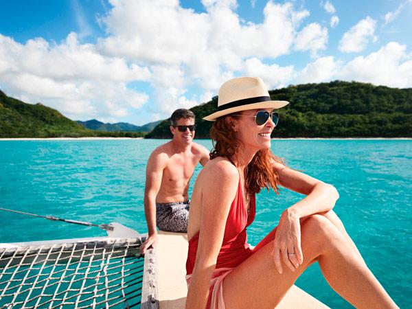 Disfrutando de las playas del Caribe