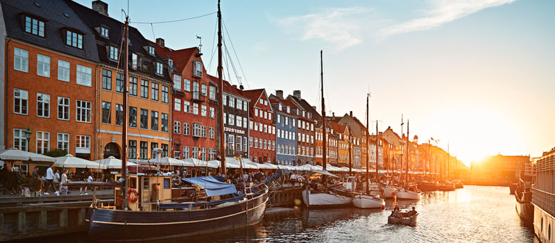 Vista del centro de Copenhague - Crucero Princess