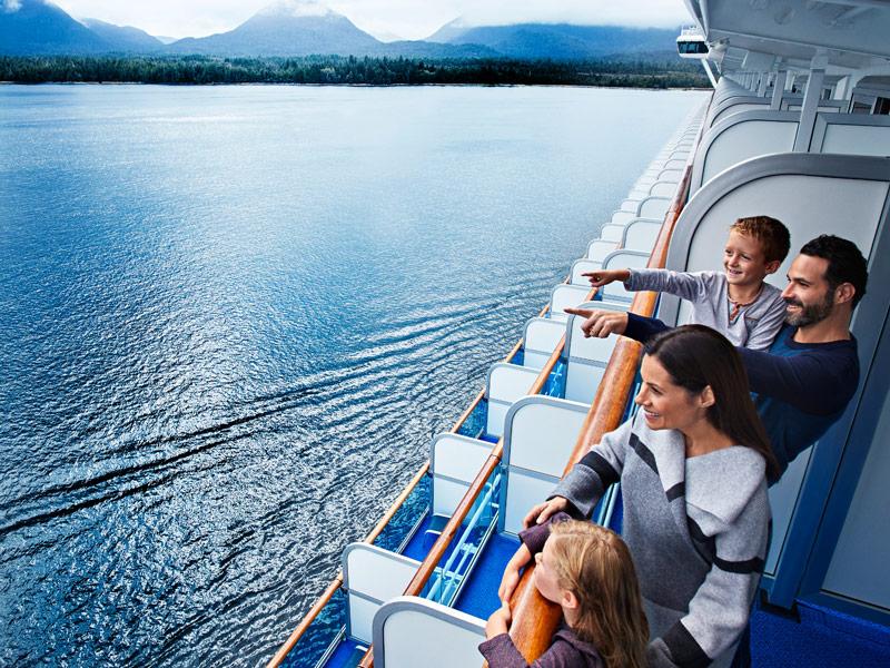 Familia a bordo del crucero Princess
