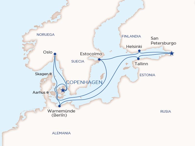 Báltico y Rusia desde Copenhague